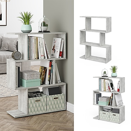 VICCO Raumteiler LEVIO Beton Regal Bücherregal Standregal Hochregal Wandregal - Bild 1