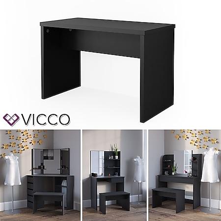 VICCO Universalhocker Bank schwarz - Frisiertisch Kommode Spiegel - Bild 1
