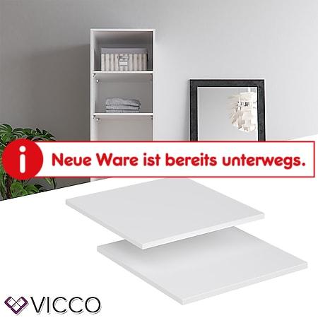 VICCO Kleiderschrank COMFORT offen begehbar Regal Boden weiß - Bild 1