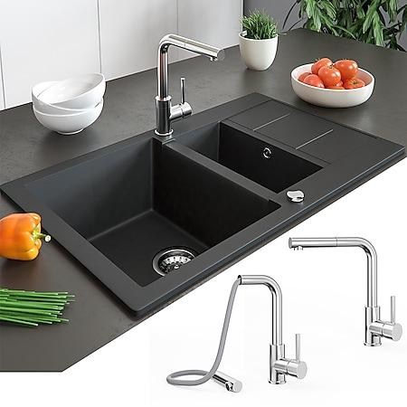 Bergström Armatur Küchenarmatur Spülearmatur Wasserhahn Mischbatterie Chrome - Bild 1