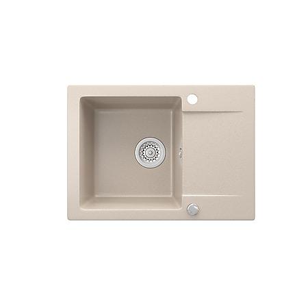 Bergström Spüle Küchenspüle Einbauspüle Spülbecken Granit Beige 577x418mm - Bild 1