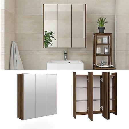 VICCO Badspiegel MAJEST Nussbaum - Spiegel Spiegelschrank Wandspiegel - Bild 1