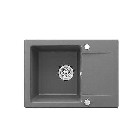 Bergström Spüle Küchenspüle Einbauspüle Spülbecken Granit Grau  577x418mm - Bild 1