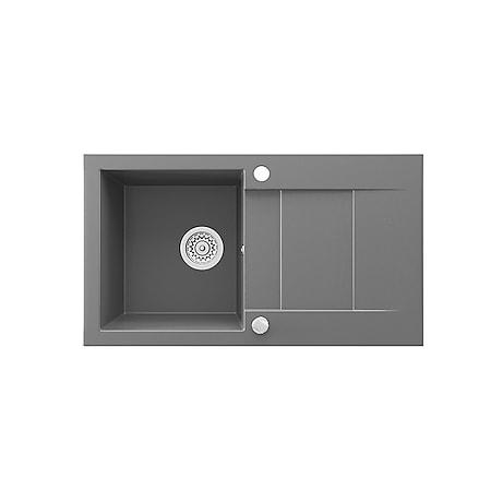 Bergström Granit Spüle Küchenspüle Einbauspüle Spülbecken 750x430 mm Grau - Bild 1