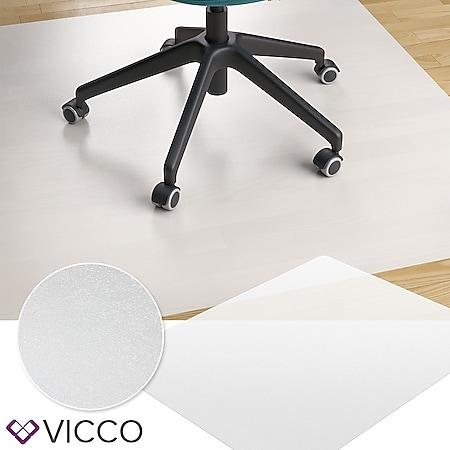 VICCO Bodenschutzmatte 120x150 Bürostuhlunterlage Bodenmatte Stuhlunterlage weiß - Bild 1