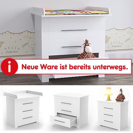 VICCO Wickeltisch MIRO Wickelkommode Aufsatz Wickelregal Kommode Babymöbel weiß - Bild 1
