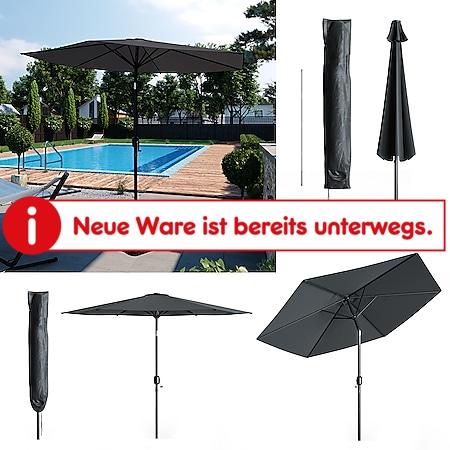 Oskar Sonnenschirm 270cm anthrazit inkl Schutzhülle Gartenschirm Terrassenschirm - Bild 1