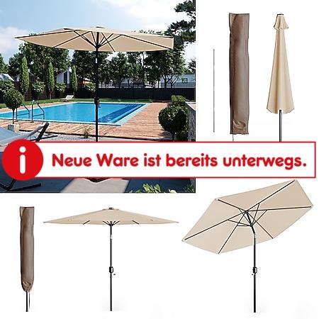 Oskar Sonnenschirm 270cm beige inkl Schutzhülle Gartenschirm Terrassenschirm - Bild 1