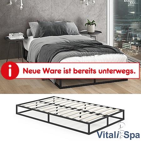 VITALISPA Metallbett MATTIA 120x200cm Bettgestell inkl Lattenrost Gästebett Bett - Bild 1