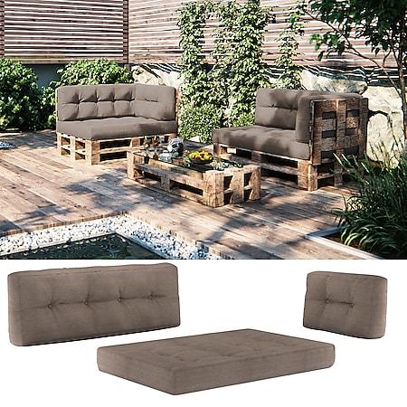 Vicco Palettenkissen-Set Sitzkissen + Rückenkissen + Seitenkissen, verschiedene Farben - Bild 1