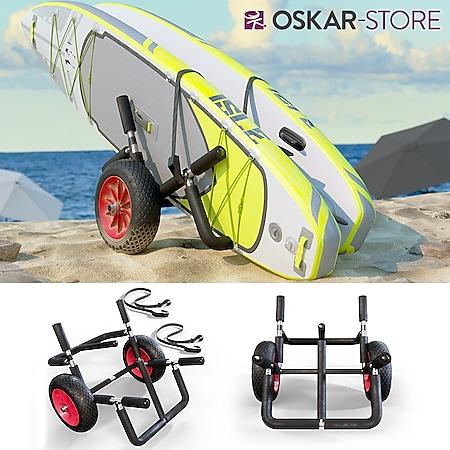Oskar Transportwagen Doppel für 2x SUP Stand Up Paddle Surfboard Surfwagen Alu - Bild 1