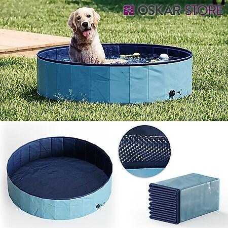 OSKAR Hundepool 120cm Schwimmbad für Hunde Planschbecken Swimmingpool Kinderpool - Bild 1