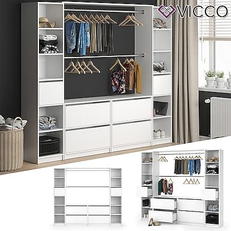 VICCO Kleiderschrank GUEST XXXL offen begehbar Regal Kleiderständer Schrank - Bild 1