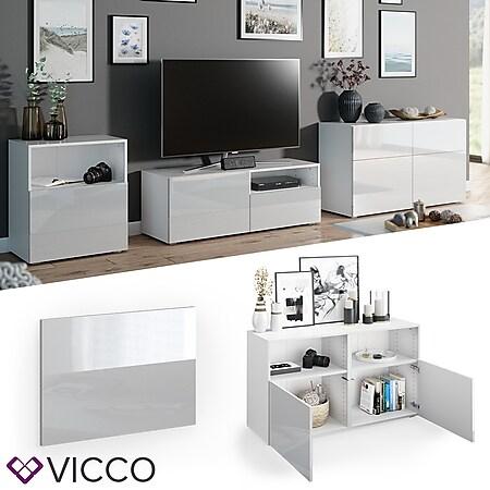 VICCO Tür Front COMPO M9 weiß hochglanz Mittel Schublade Schrank Bücherregal Akten - Bild 1