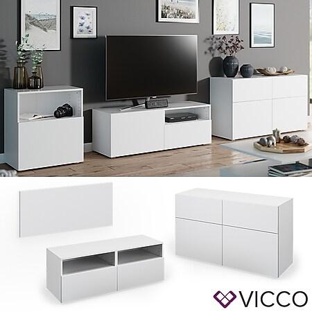 VICCO Tür Front COMPO M10 weiß Klein Schublade Schrank Bücherregal Akten - Bild 1