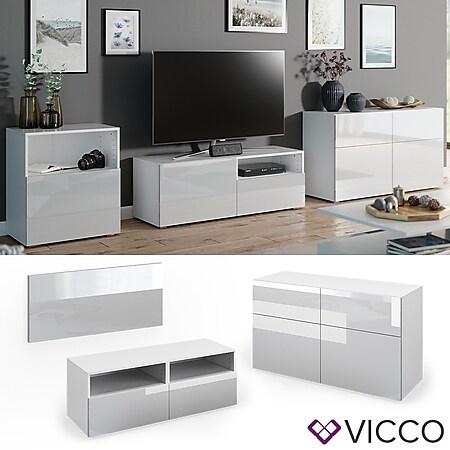 VICCO Tür Front COMPO M10 weiß hochglanz Klein Schublade Schrank Bücherregal Akten - Bild 1