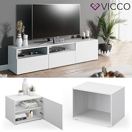 VICCO Schrank COMPO M4 weiß Regal Aktenschrank Bücherregal Standregal Büro - Bild 1
