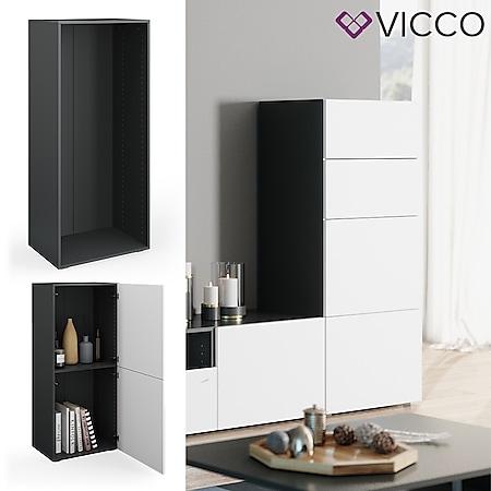 VICCO Schrank COMPO M1 antrhazit Regal Aktenschrank Bücherregal Standregal Büro - Bild 1