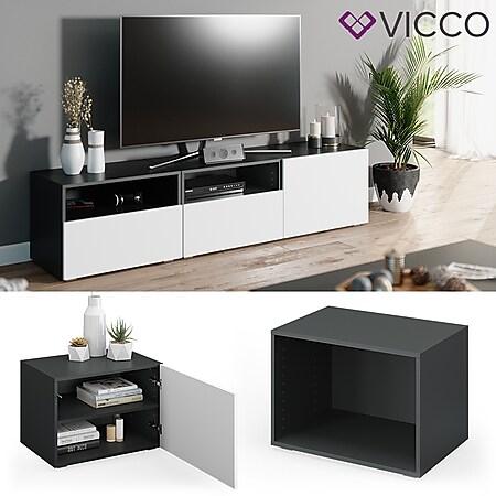 VICCO Schrank COMPO M4 antrhazit Regal Aktenschrank Bücherregal Standregal Büro - Bild 1