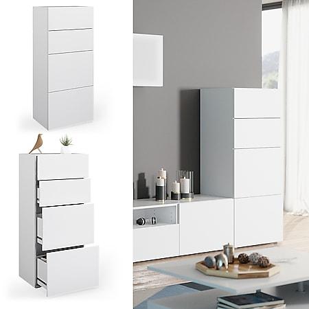 Vicco Schrank Compo Schubladenschrank Aktenschrank Büro Wohnzimmer weiß/weiß - Bild 1