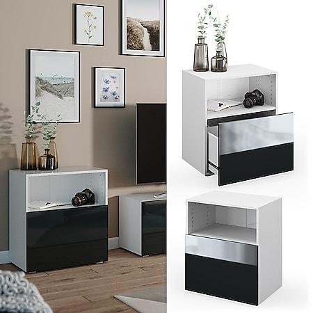 VICCO Schrank COMPO Schubladenschrank Aktenschrank Büro weiß anthrazit hochglanz - Bild 1