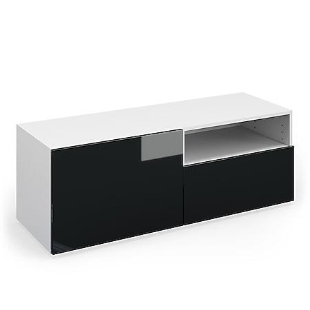 VICCO TV Lowboard COMPO Sideboard Fernsehtisch Kommode weiß anthrazit hochglanz - Bild 1