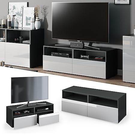 Vicco TV Lowboard Compo Sideboard Fernsehtisch Kommode Schrank anthrazit weiß hochglanz - Bild 1