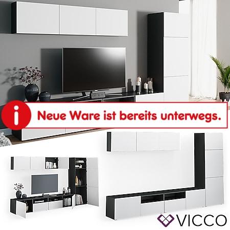 VICCO Wohnwand 7er Set COMPO Lowboard Sideboard Schrank Regal anthrazit weiß - Bild 1
