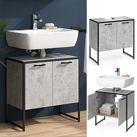 Vicco Wachtischunterschrank Beton Fyrk Badschrank Waschbeckenunterschrank Unterschrank - Bild 1