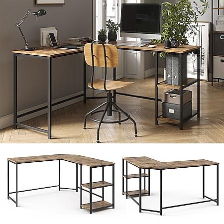 Vicco Eckschreibtisch Computertisch Schreibtisch Fyrk L-förmiger Bürotisch Tisch - Bild 1