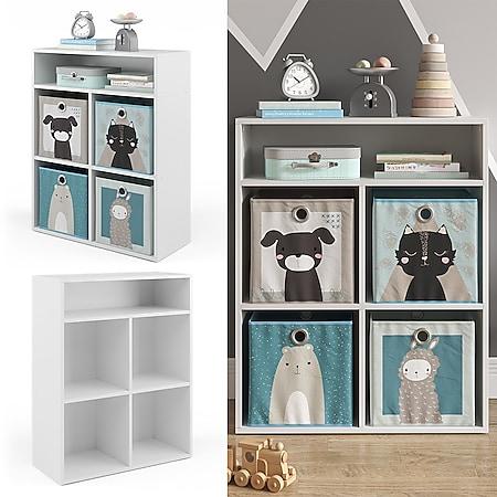 Vicco Kinderregal Luigi für 4 Faltboxen Bücherregal Spielzeugregal Aufbewahrung Regal - Bild 1