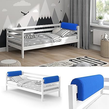 Vitalispa Bettkantenschutz Bettumrandung Kinderbett Kantenschutz blau Babybett - Bild 1