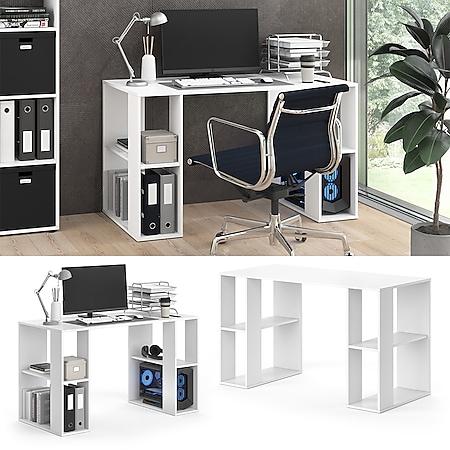 Vicco Schreibtisch ARIAN Arbeitstisch Bürotisch Regal PC Tisch Schublade Ablage - Bild 1