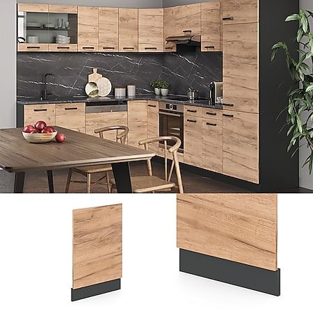 VICCO Küchenschrank Geschirrspülerblende 45 cm R-Line Anthrazit - Bild 1
