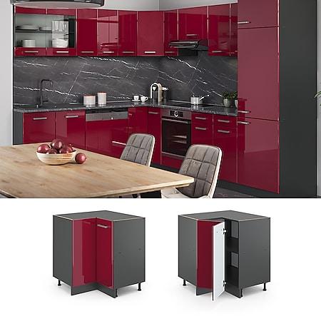 VICCO Küchenschrank Unterschrank Eckunterschrank 87 cm R-Line Anthrazit - Bild 1