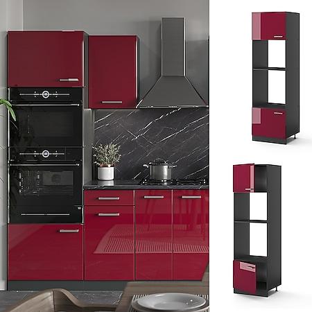 VICCO Küchenschrank Mikrowellenumbauschrank 60 cm R-Line Anthrazit - Bild 1