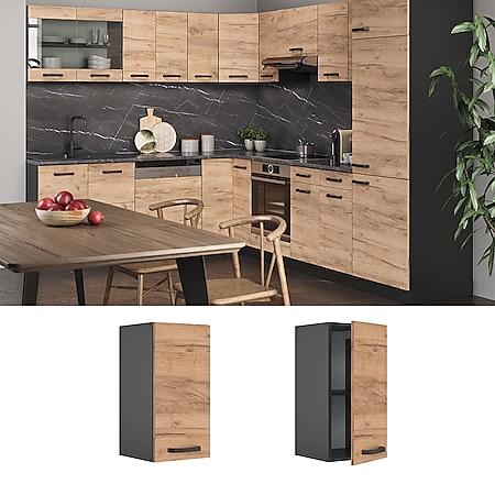 VICCO Küchenschrank Hängeschrank 30 cm R-Line Anthrazit - Bild 1