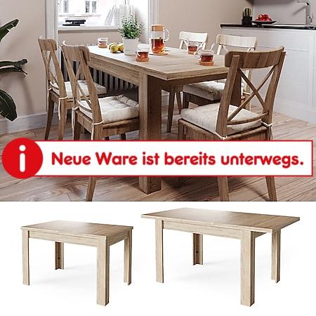 Vicco Esstisch Esszimmertisch Küchentisch ausziehbar 120-160x80cm sonoma Tisch - Bild 1