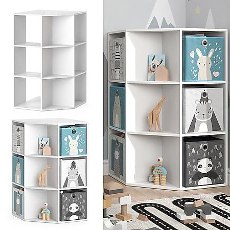 Vicco Kinderregal Eckregal Bücherregal Luigi weiß Spielzeugregal Aufbewahrung - Bild 1
