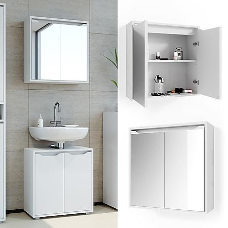 Vicco Spiegelschrank Badspiegel Badezimmerspiegel Ruben Wandspiegel Badschrank - Bild 1