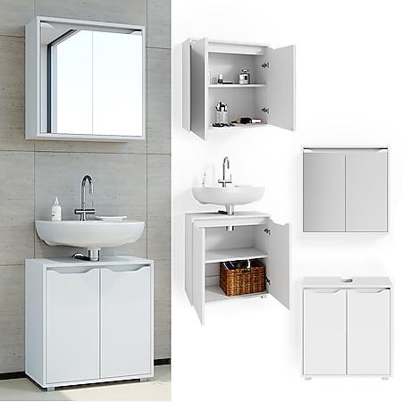 Vicco Badmöbel Set Badezimmermöbel Ruben Spiegelschrank Waschtischunterschrank - Bild 1