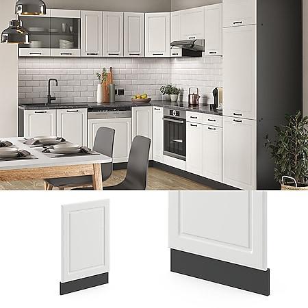 VICCO Geschirrspülerfront 45 cm Anthrazit Küchenschrank Blende Küchenzeile R-Line - Bild 1