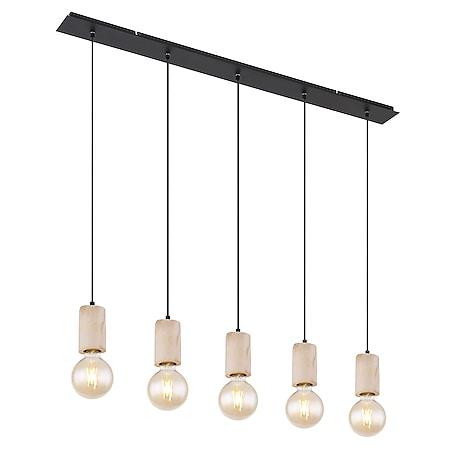 Globo Lighting JOSEBA Hängeleuchte Metall schwarz matt, 5xE27 - Bild 1