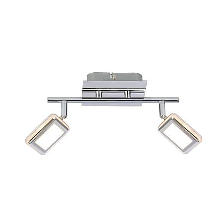 Globo Lighting TRYSTAN LED Strahler Chrom, 2xLED - Bild 1