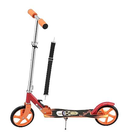 ArtSport Scooter Cityroller Fire Big Wheel 205 mm Räder klappbar höhenverstellbar – ab 3 Jahre - Bild 1