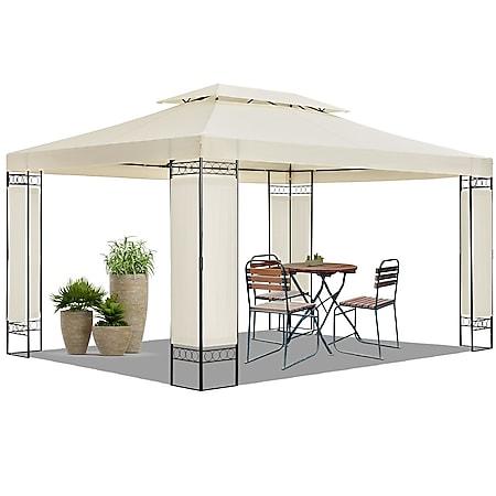 Juskys Gartenzelt Capri 3 x 4 m in creme – Outdoor Pavillon wasserabweisend - Bild 1