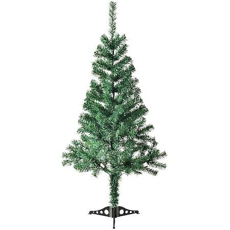 Juskys Weihnachtsbaum 120 cm künstlich mit Ständer – Tannenbaum für Innen – Weihnachtsdeko grün - Bild 1