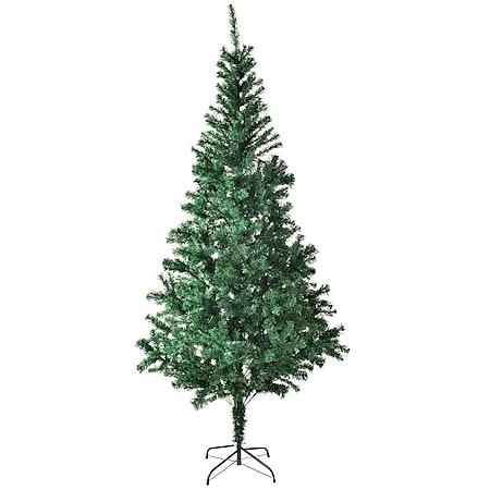 Juskys Weihnachtsbaum 180 cm künstlich mit Ständer – Tannenbaum für Innen – Weihnachtsdeko grün - Bild 1