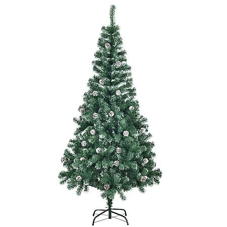 Juskys Weihnachtsbaum 180 cm künstlich mit Schnee & Ständer – Tannenbaum Innen – Weihnachtsdeko - Bild 1