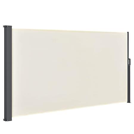 Juskys Seitenmarkise Dubai 300 x 160 cm ausziehbar blickdicht, Sichtschutz & Windschutz beige - Bild 1